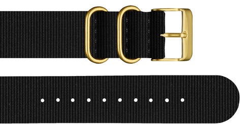Black Nylon Strap - For Classic Watches - Analog Watch Co.