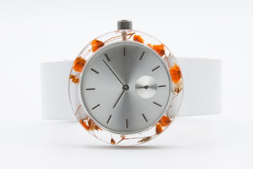 Orange Baby's Breath Botanist Watch