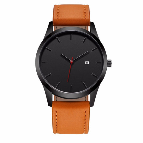 The Everyday Black on Brown - Analog Watch Co.