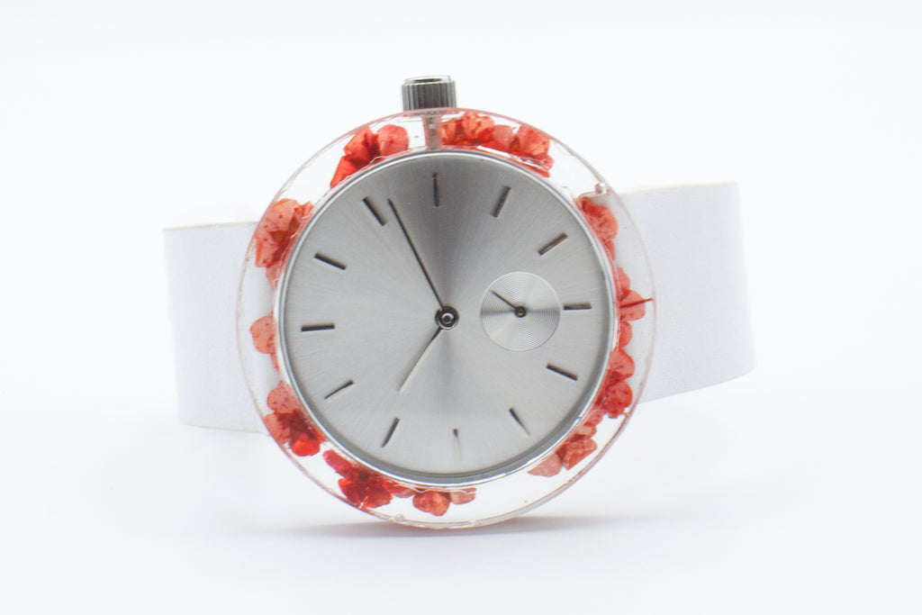 Red Forget-Me-Not Botanist Watch