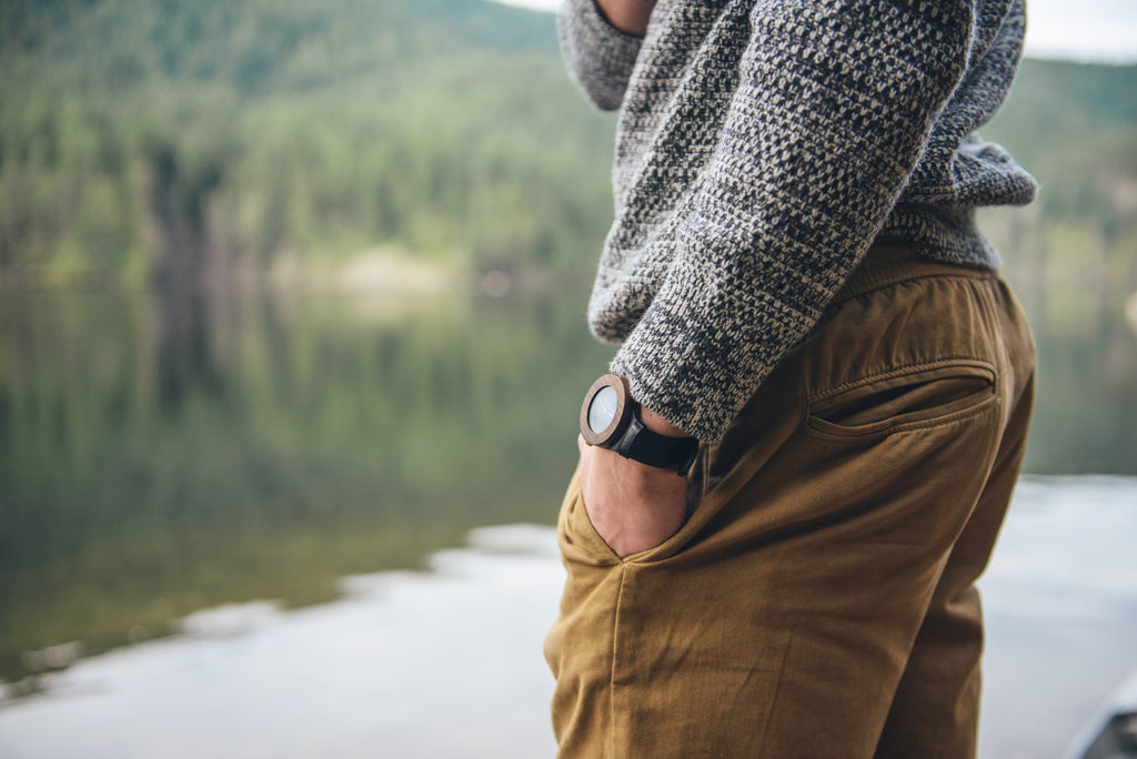Genuine blackwood wristwatch for the minimalist nature lover