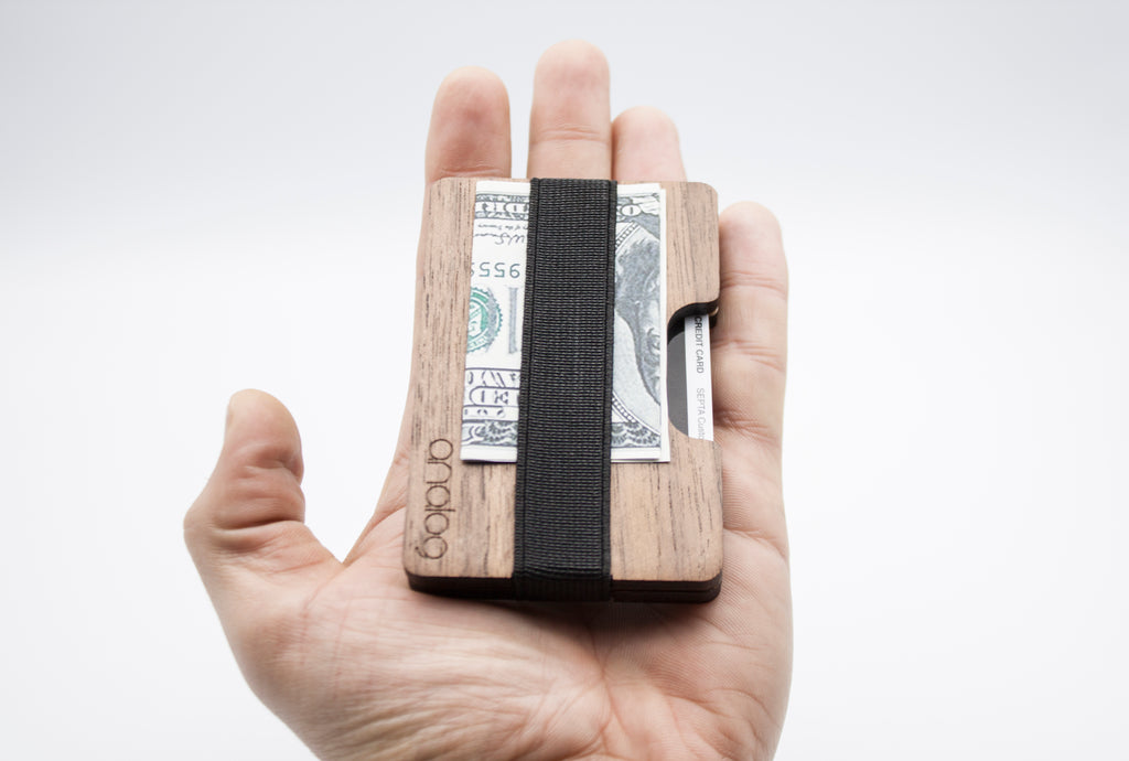 Walnut Wallet Card Holder - Analog Watch Co.
