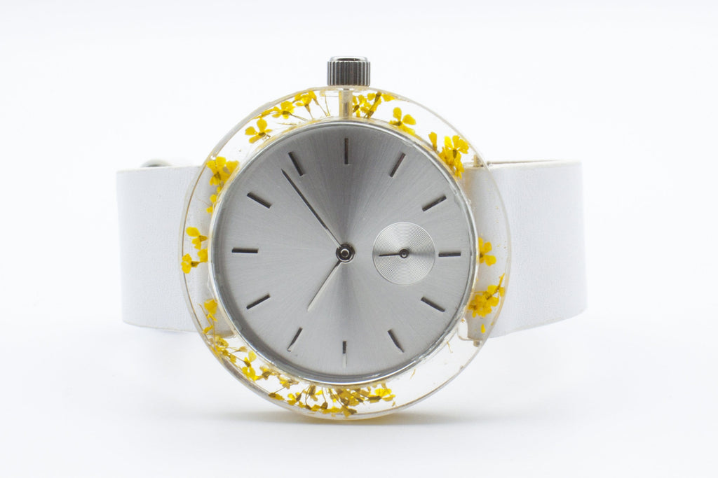 Yellow Queen Anne's Lace Botanist Watch