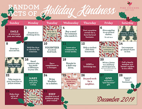Random Acts of Holiday Kindness - December 2019