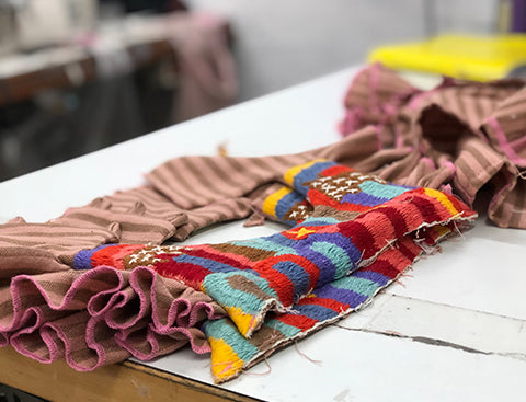 folklore dress during design and production process.