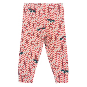 Pink Chicken Baby Holiday PJ Set 3/6m light gray candy canes - 19hpcb509c