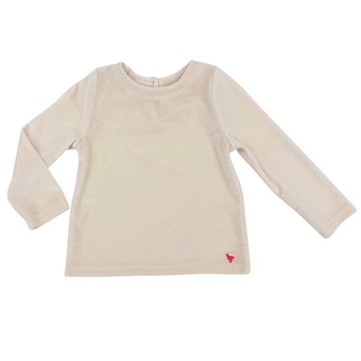 Pink Chicken Olivia Top 2y winter white velour - 19hpc649a