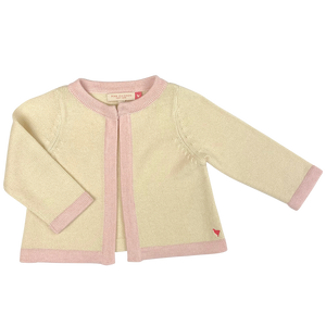 Pink Chicken Baby Easter Sweater 3/6m cream w/ pink trim