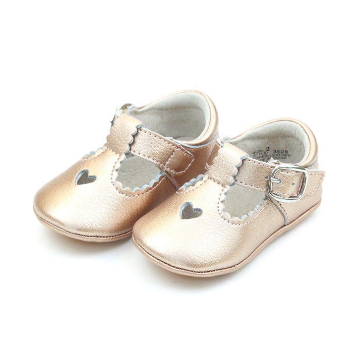 Pink Chicken L'Amour Shoes Rosalie Infant Crib Mary Jane - Rosegold infant 0