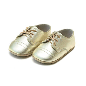 Pink Chicken L'Amour Shoes Bailey Derby Infant Crib Shoe - Gold infant 0
