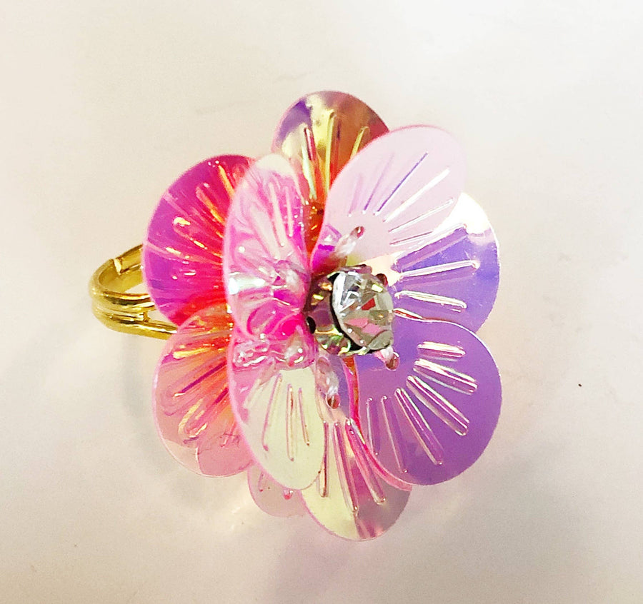 "Pink Chicken Flower Power ""Pink Diamond"" Adjustable Ring"