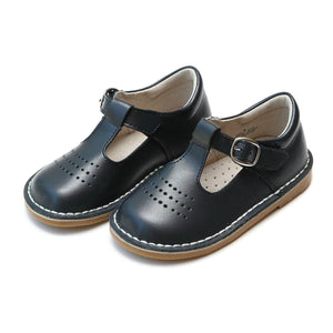 Pink Chicken L'Amour Shoes Cecile Dotted Punch Mary Jane - Navy toddler 5