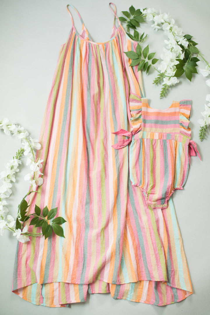 Pink Chicken Andie Dress XS multi stripe