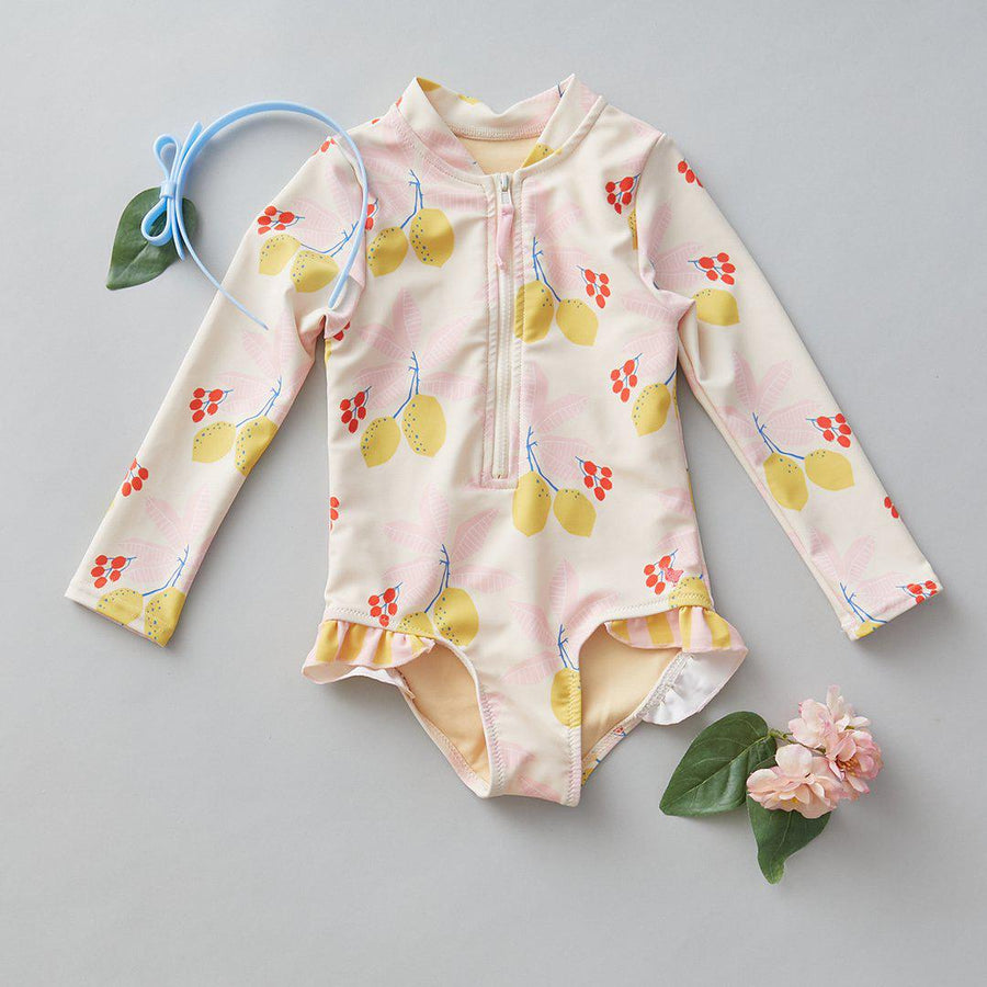 Pink Chicken Arden Suit 2Y antique white lemons