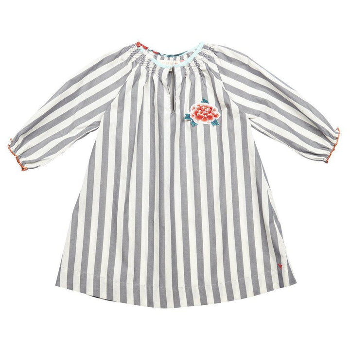 Pink Chicken Ava Dress 2y 17fpc136a - smoked pearl stripe