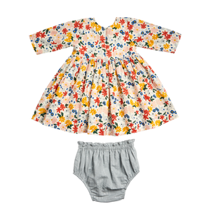 Pink Chicken Lucy Dress Set 3/6M multi floral