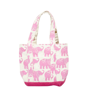 Pink Chicken Small Tote Bag ONE SIZE elephant/tiny flower - 17sspca143a