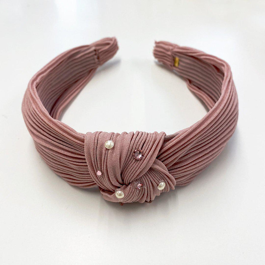 Pink Chicken Bari Lynn Knot Headband - Pleated Mauve