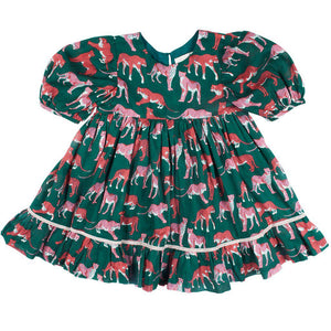 Pink Chicken Brea Dress 2y evergreen cheetah - 19ffpc351a