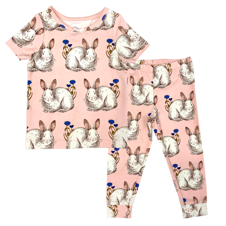 Pink Chicken Spring PJ Set 2y easter bunnies