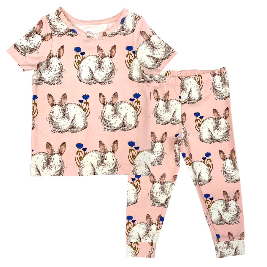 Pink Chicken Baby Spring PJ Set 3/6m easter bunnies