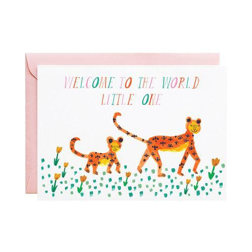 Pink Chicken Greeting Card Mummy Leopard
