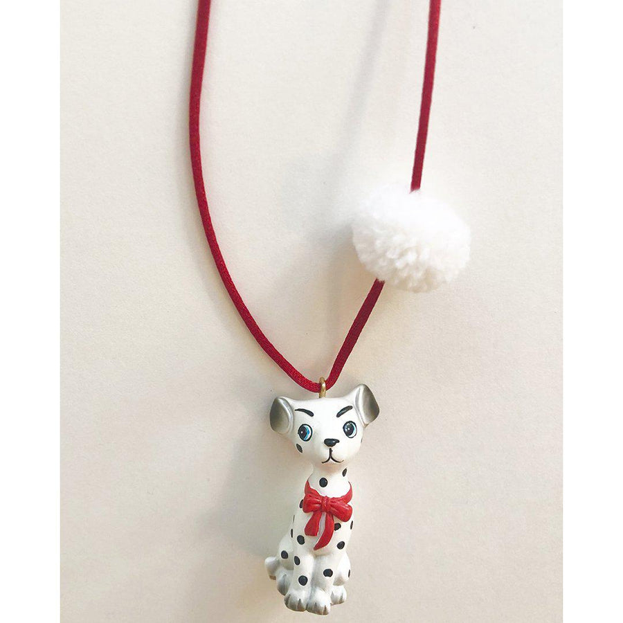 Pink Chicken Dakota the Dalmation Necklace
