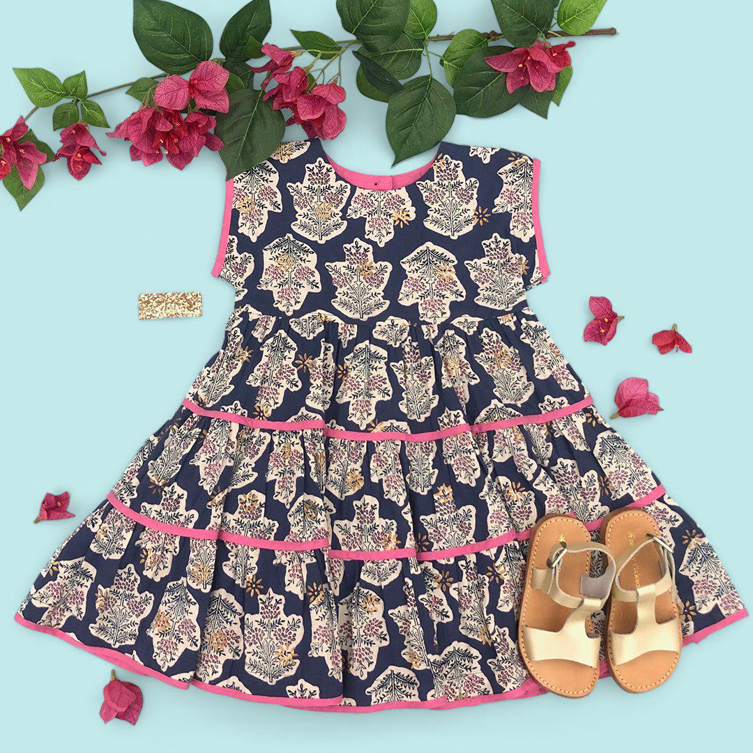 View larger version of Pink Chicken Peachy Dress 2y blue ribbon jasmine tree - 20espc334a