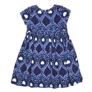 Pink Chicken Ellen Dress 2y blue multi leopard zig zag - 17fpc208b