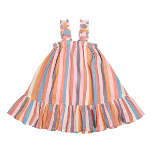 Pink Chicken Emma Dress 2Y multi stripe