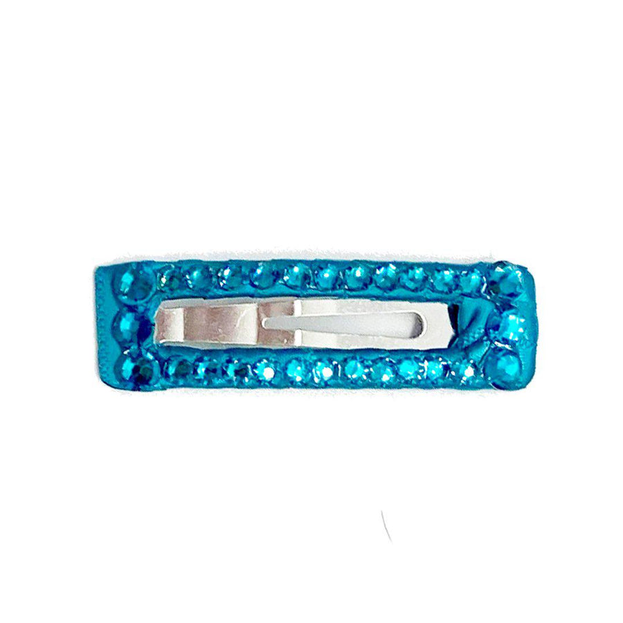 Pink Chicken Bari Lynn Rectangle Clip - Turquoise