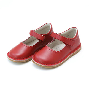 Pink Chicken L'Amour Shoes Caitlin Scalloped Mary Jane - Red toddler 4