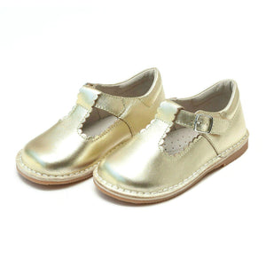 Pink Chicken L'Amour Shoes Selina Scalloped Mary Jane - Gold toddler 5