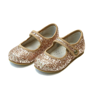 Pink Chicken L'Amour Shoes Renata Glitter Flat - Bronze Toddler 5
