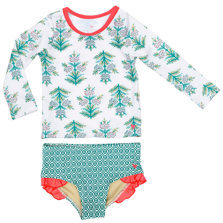 Pink Chicken Rash Guard Set 2y gardenia jasmine tree