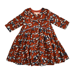 Pink Chicken Fatima Dress 2Y gingerbread bows