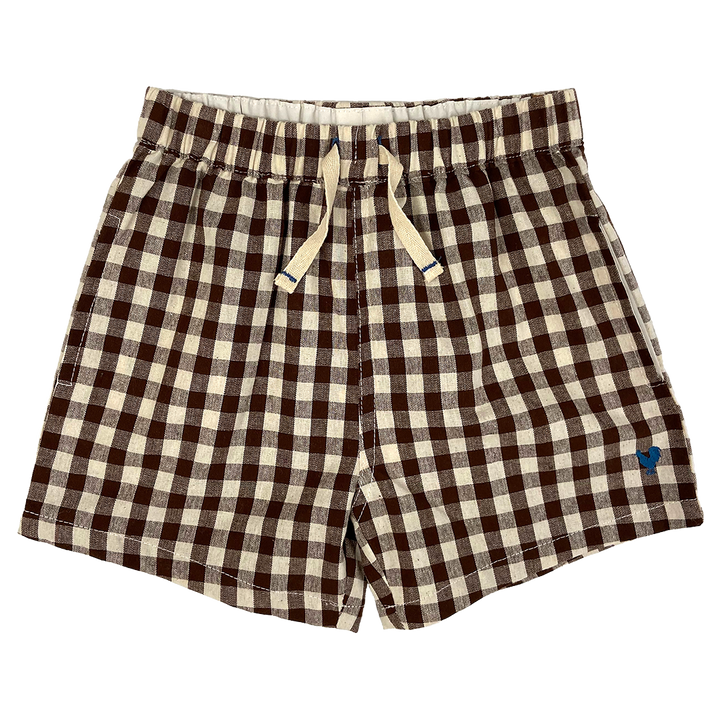 Pink Chicken Camp Short 2y brown gingham