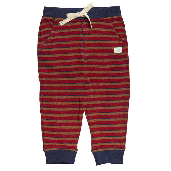 Pink Chicken Gus Pant 3/6m chili/brown/blue stripe - 17fbrn204b