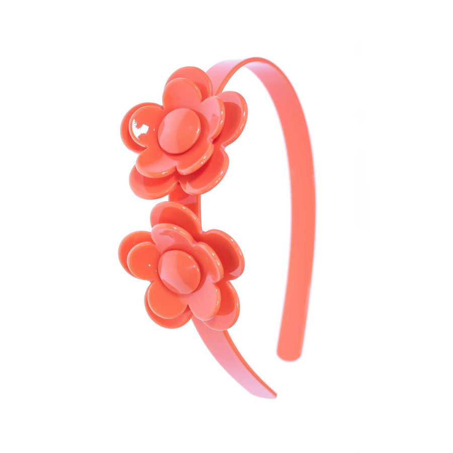 Pink Chicken Camellia Flower Headband Coral