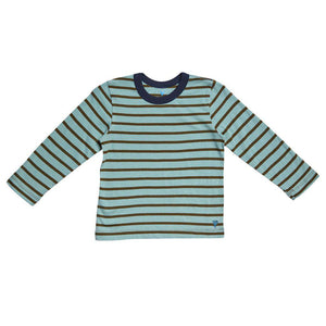Pink Chicken Harry Stripe T 2y dark olive/blue surf stripe - 17fbr103e
