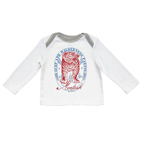 Pink Chicken Harry Graphic T 3/6m montauk surf tiger - 17fbrn202c