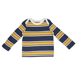 Pink Chicken Henry Stripe T 3/6m blue/sunflower/white stripe - 17fbrn207b