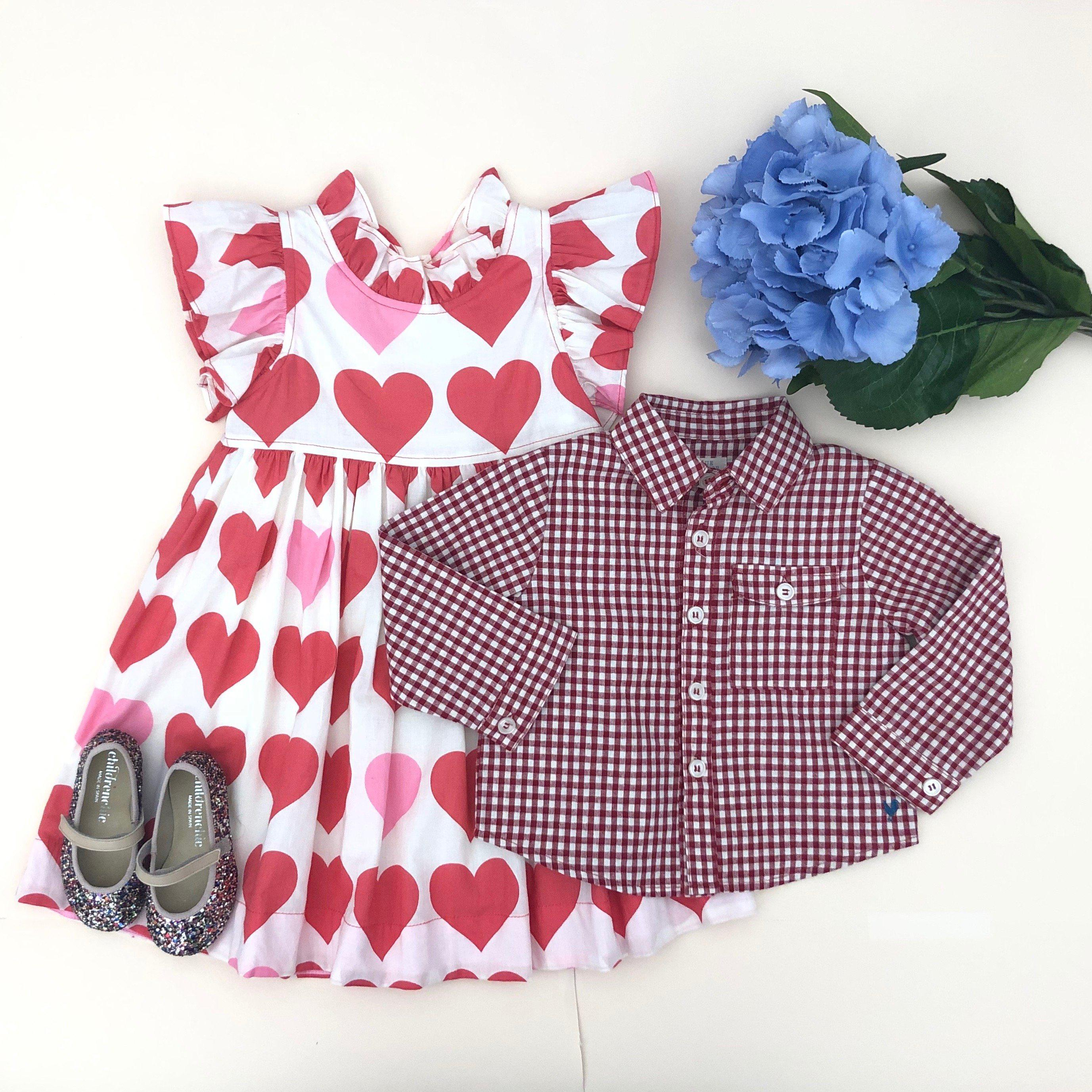 View larger version of Pink Chicken Jack Shirt 2y red gingham - 20esbr100a