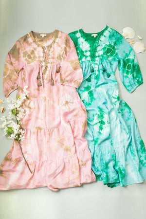 Pink Chicken Indira Dress XS bosphorous green / nile blue