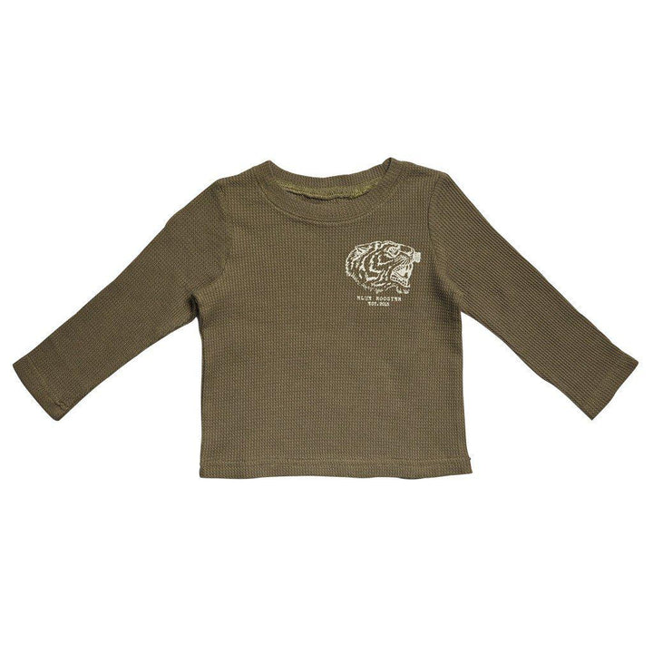 Pink Chicken Baby Jared T 3/6m olive tiger graphic - 17fbrn208b