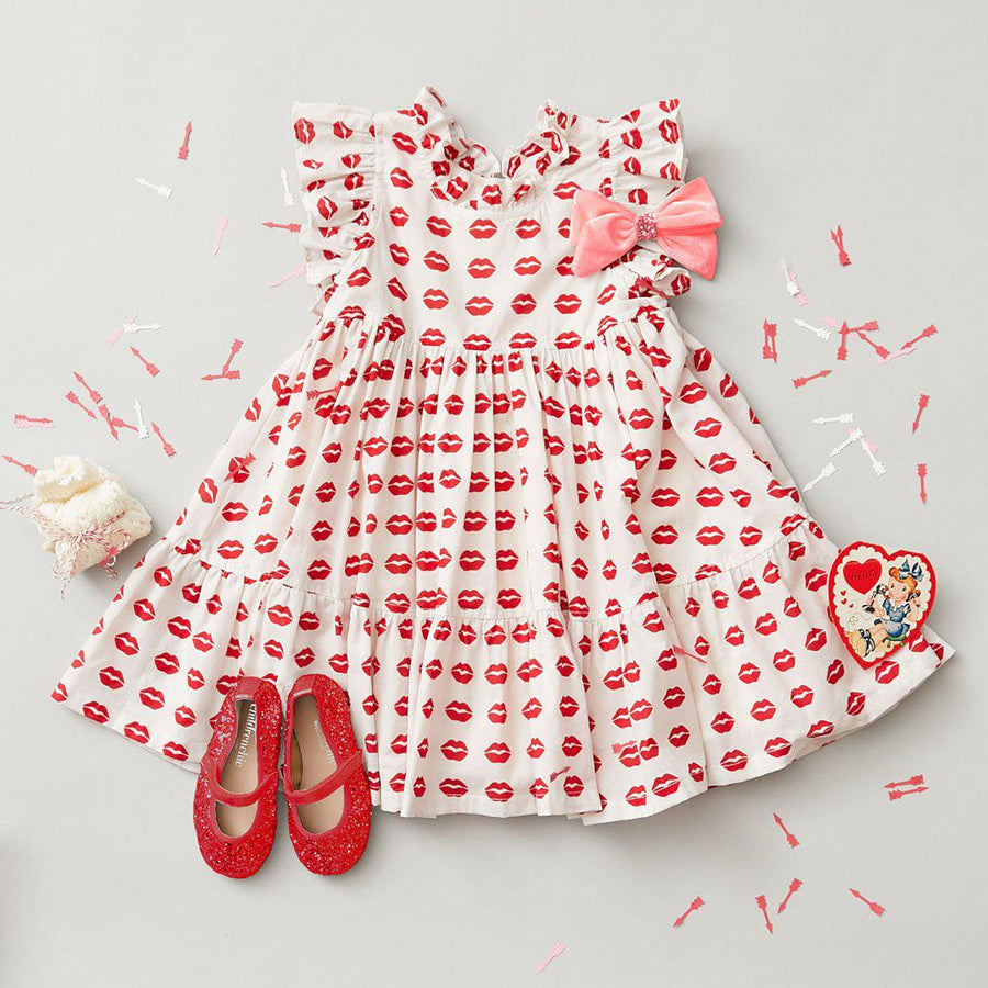 Pink Chicken Jennifer Dress 2Y tango red kisses