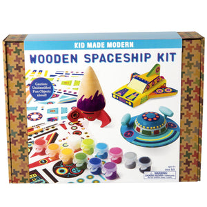 Pink Chicken Wooden Spaceship Kit