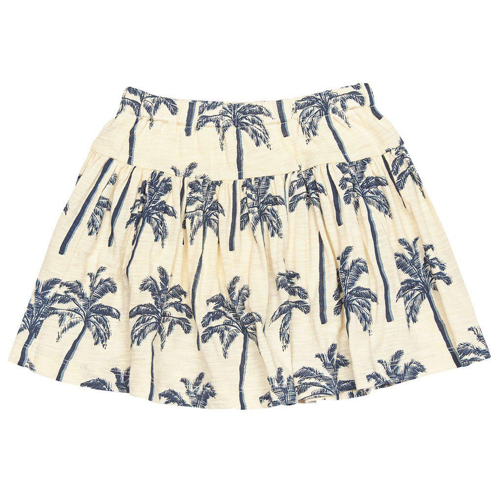 Pink Chicken Krista Skort 2y blue oversized palm tree - 17sspc512a