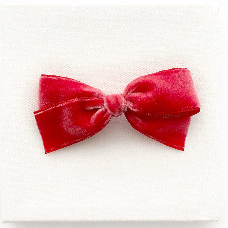Pink Chicken LaBelle Baby Velvet Willa Bow - Tomate