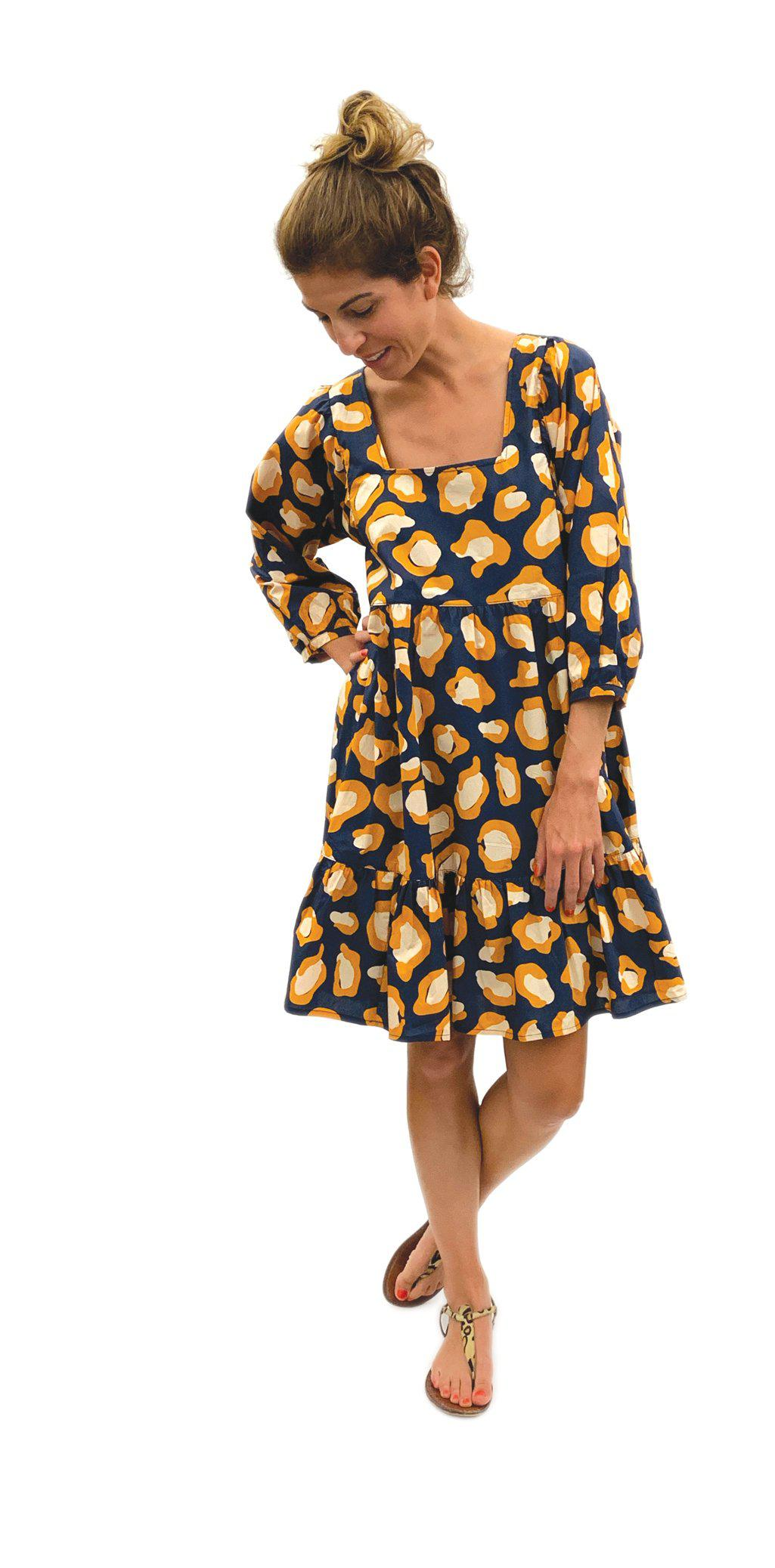 Pink Chicken Leena Dress xs 19ffpcw209d - dress blues oversized leopard
